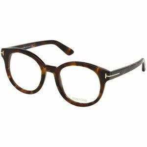 Tom Ford Round Style Eyeglasses Havana W/Demo Lens